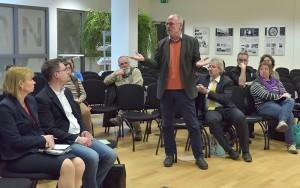 Wolfgang Krogel in der Diskussion Foto: Thomas Platow/LA Berlin